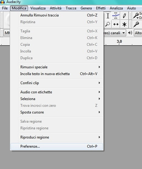 come registrare un podcast con audacity