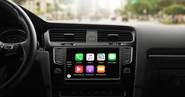 podscat in auto con apple carplay podcast